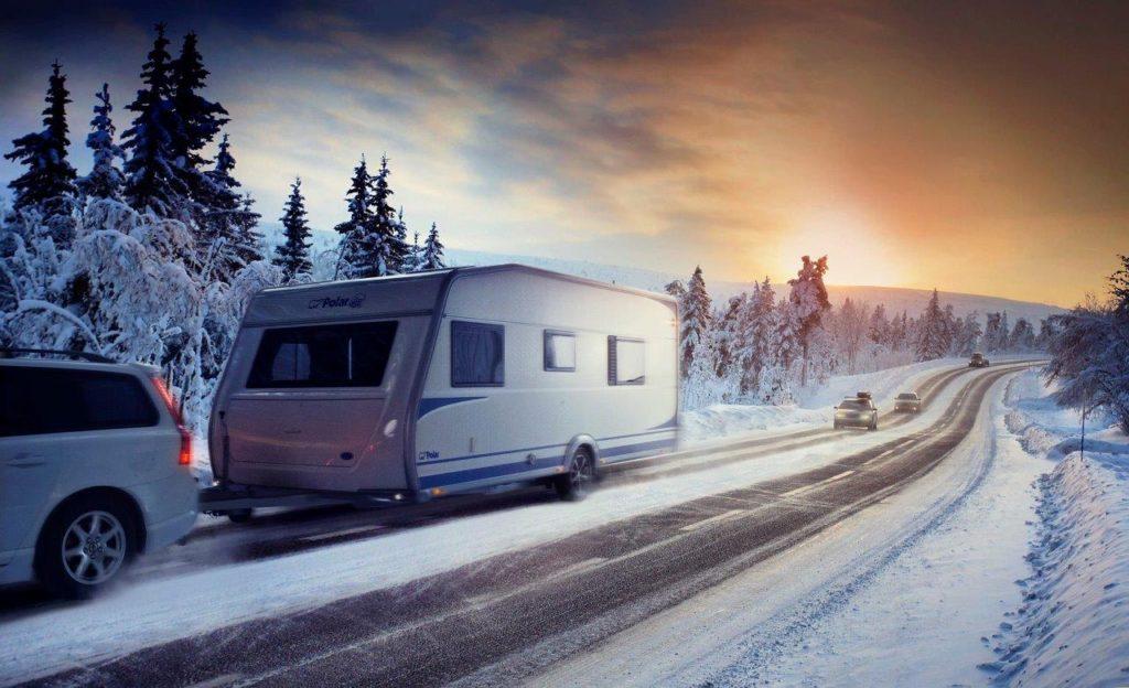 Polar Caravan im Winter